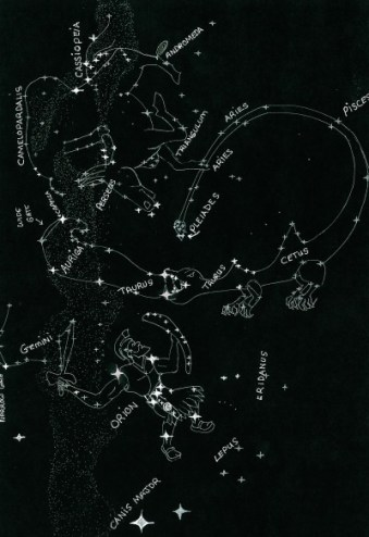 Holy-Ghost-Rider Constellation in Eastern night-sky