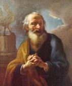 http://en.wikipedia.org/wiki/File:St_Peter_Brandl_1724_National_Gallery_Prague.jpg