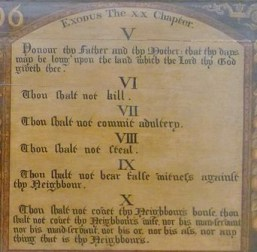 Ten Commandments - National Museum of Scotland - Wikimedia commons - share-alike-license