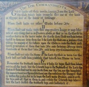 Ten Commandments National Museum of Scotland wikimedia share-alike license