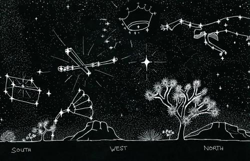 summer constellation w/woman & ark