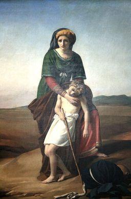 http://commons.wikimedia.org/wiki/File:Navez_Agar_et_Isma%C3%ABl.jpg