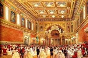 http://commons.wikimedia.org/wiki/File:Louis_Haghe_The_New_Ballroom_1856.jpg