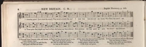 http://commons.wikimedia.org/wiki/File:New_Britain_Southern_Harmony_Amazing_Grace.jpg