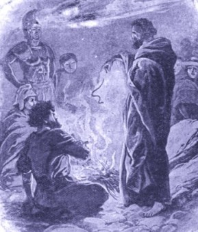 Acts 28 - 5 and Paul shook off the beast into the fire
