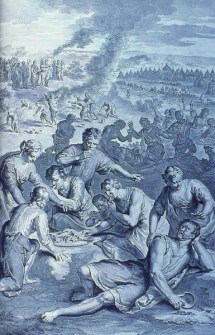 Plague on those lusting for flesh of quail - Wikimedia - Public Domain