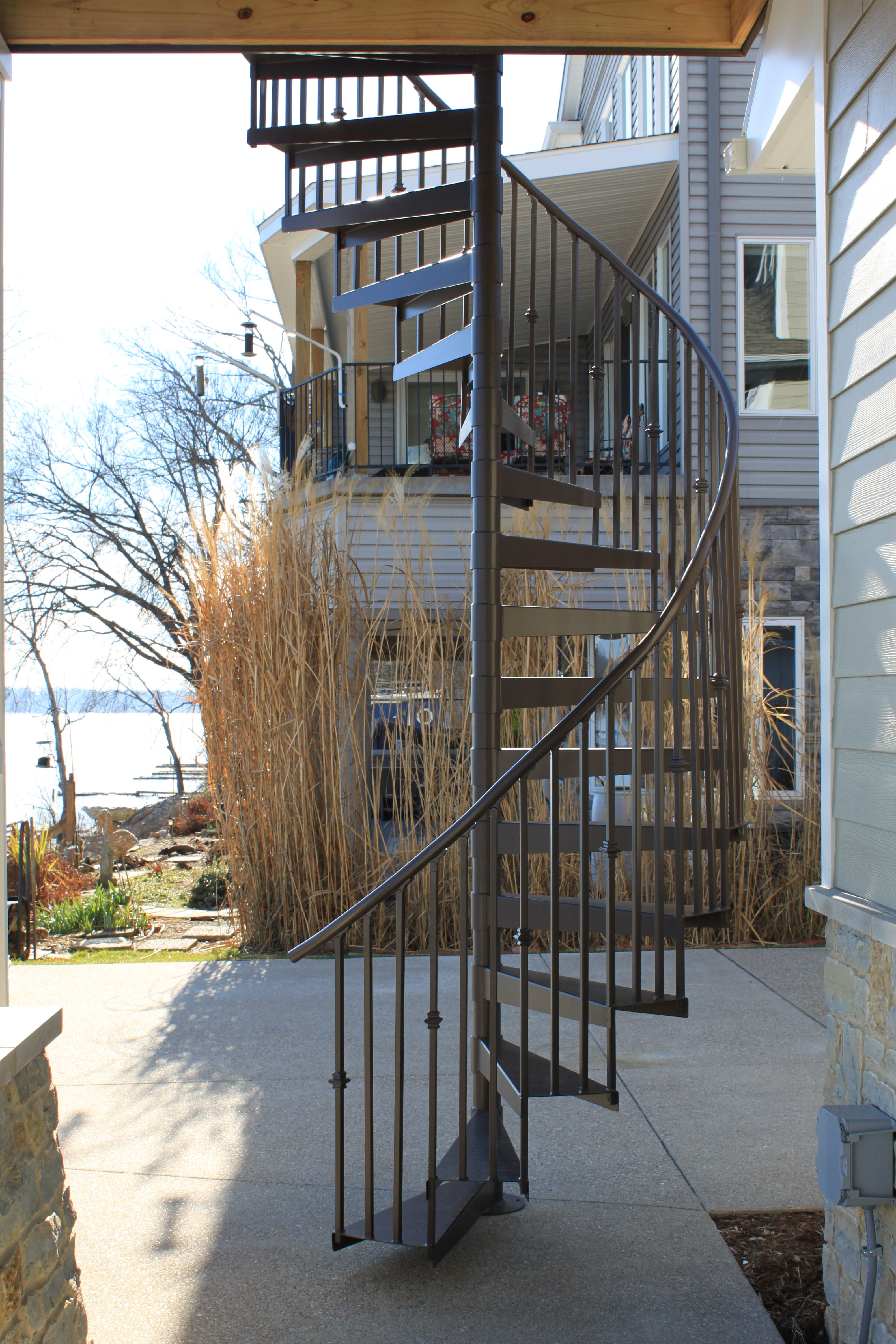 Spiral Staircases Heck S Metal Works | Circular Stairs For Sale | Shop | Glass | Wooden | Modern | Wrought Iron