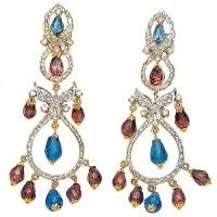 JW4978 Burgundy Beads Earrings Jewellery Fashion Earrings