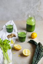 Glowing Skin Green Juice in Duralex Picardie and Mason Jar
