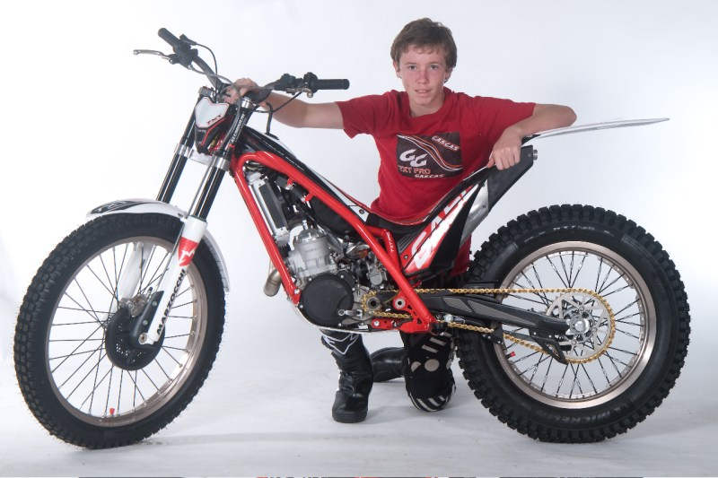 Isaac Somerville with his new ride - TXT 125 Pro 2013
