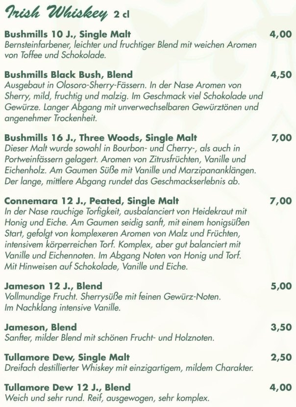 Irish Whiskey_Bushmills_Connemara_Jameson