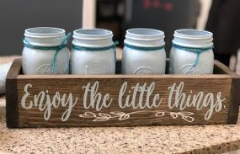 "planter box that says ""enjoy the little things"""
