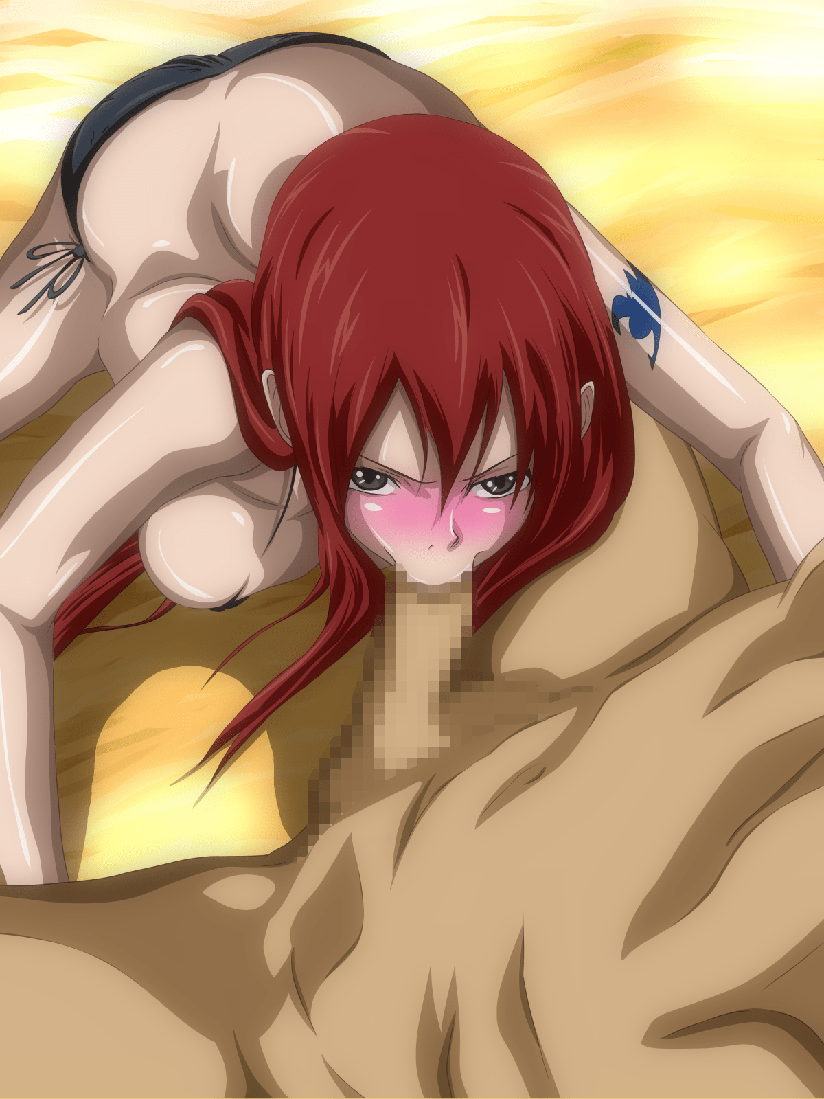 Blowjob fairy tail Pulling Some