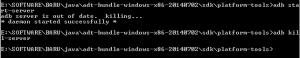 Bagaimana cara Start atau Stop adb menggunakan Command Line (CMD)