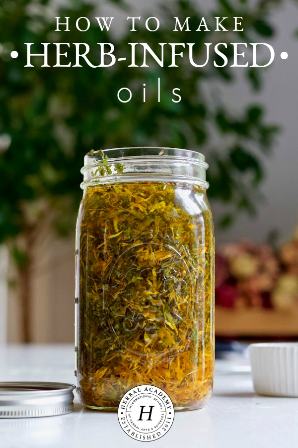 How To Make Herb-Infused Oils   Herbal Academy   There are many methods of infusing oil with herbs. In this article, we will demonstrate how to make herb-infused oils using these various methods.