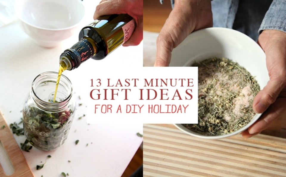 Last Minute Gift Ideas To Make At Home Using Herbs