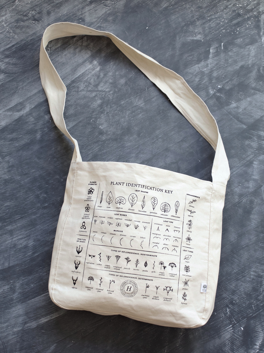 Plant Identification Foraging Crossover Tote by Herbal Academy