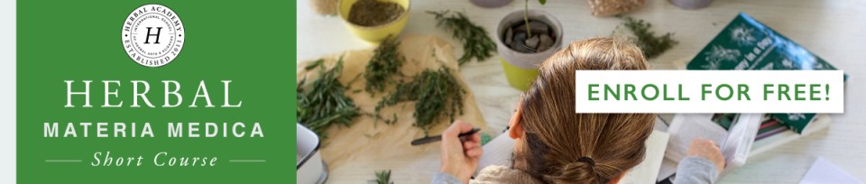 The Herbal Materia Medica Course is registering for Free during January! Stop by the Herbal Academy