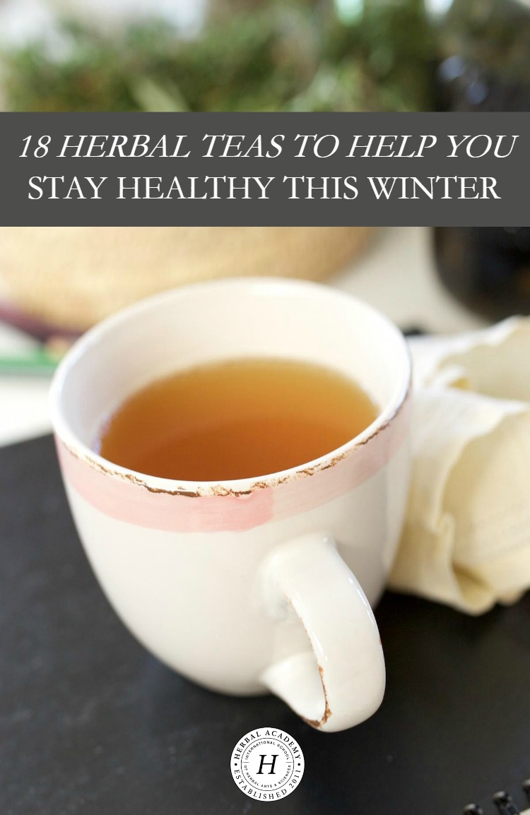 18 Herbal Teas To Help You Stay Healthy This Winter | Herbal Academy | It can be a challenge to keep our bodies healthy in the winter season. Here are 18 herbal teas to help you stay healthy and strong!