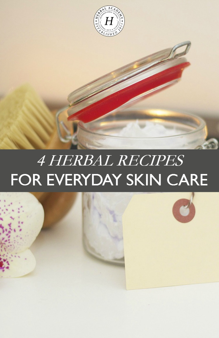 4 Herbal Recipes For Everyday Skin Care | Herbal Academy | Check out these four affordable, non-toxic, and easy herbal recipes for everyday skin care that you can incorporate into your daily and weekly routines!