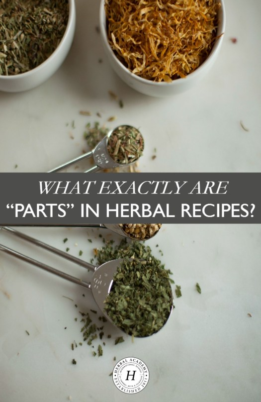 """What Exactly Are """"Parts"""" in Herbal Recipes? 