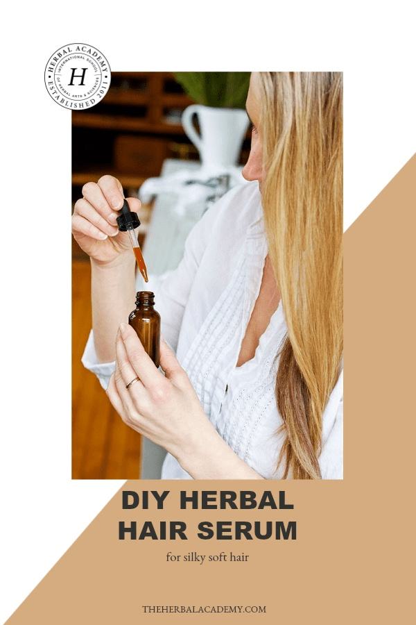 DIY Herbal Hair Serum For Silky Soft Hair | Herbal Academy | Are you curious how to attain naturally soft hair? Read on to learn how to make a DIY herbal hair serum for silky soft hair at home.