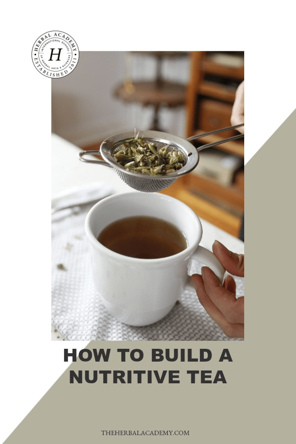How To Build A Nutritive Tea | Herbal Academy | You can build a nutritive tea for your health and wellness by using the many herbs out there that are not only rich in vitamins and minerals, but also aid in our absorption of certain nutrients!