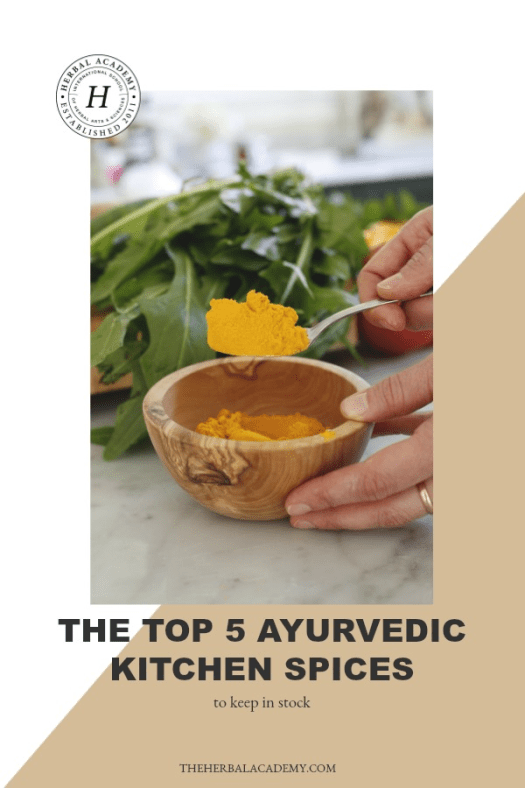 The Top 5 Ayurvedic Kitchen Spices to Keep In Stock | Herbal Academy | If you love spicy food, here are 5 Ayurvedic kitchen spices that are chock full of flavor and nutrition!