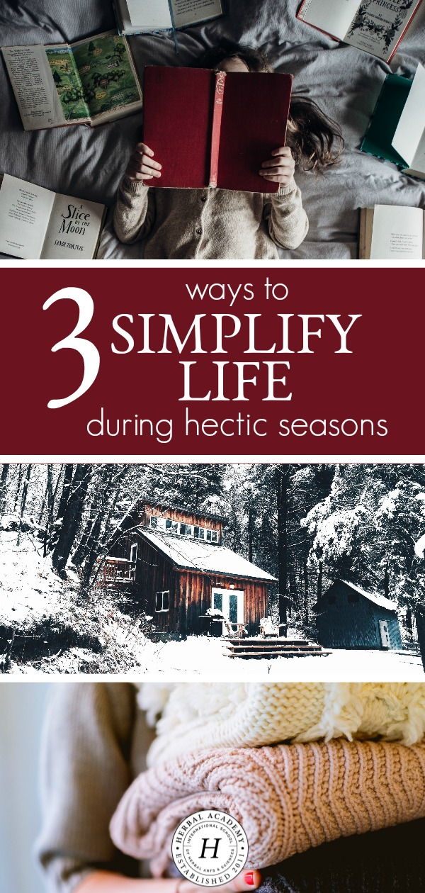 3 Ways to Simplify Life During Hectic Seasons | Herbal Academy | The holidays needn't be a time of hustle and bustle. In fact, it is possible to simplify life during hectic seasons. Here are 3 ways to do just that!