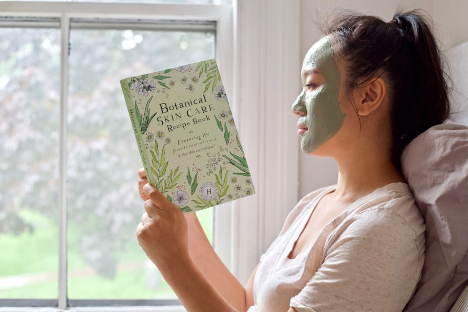 Botanical Skin Care Recipe Book cover and recipe