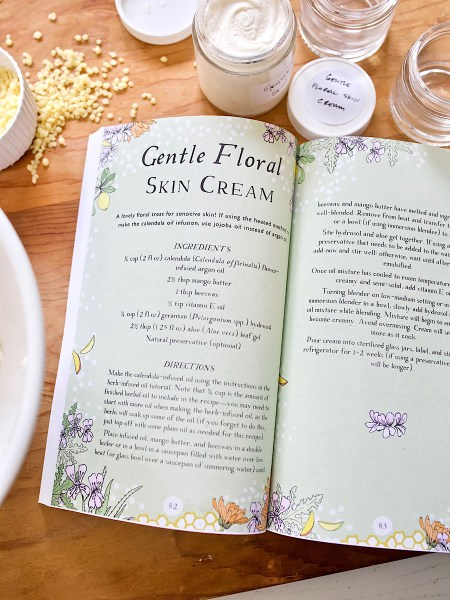 Gentle Floral Skin Cream - Botanical Skin Care Recipe Book by Herbal Academy
