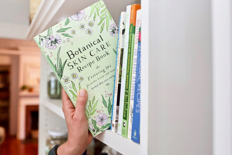 The Botanical Skin Care Recipe Book cover bookshelf