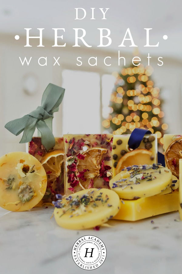 DIY Herbal Wax Sachets for the Home and Gifting | Herbal Academy | Learn to make DIY herbal wax sachets. These little treats will freshen the air without the use of chemicals and make the perfect herbal holiday gift!