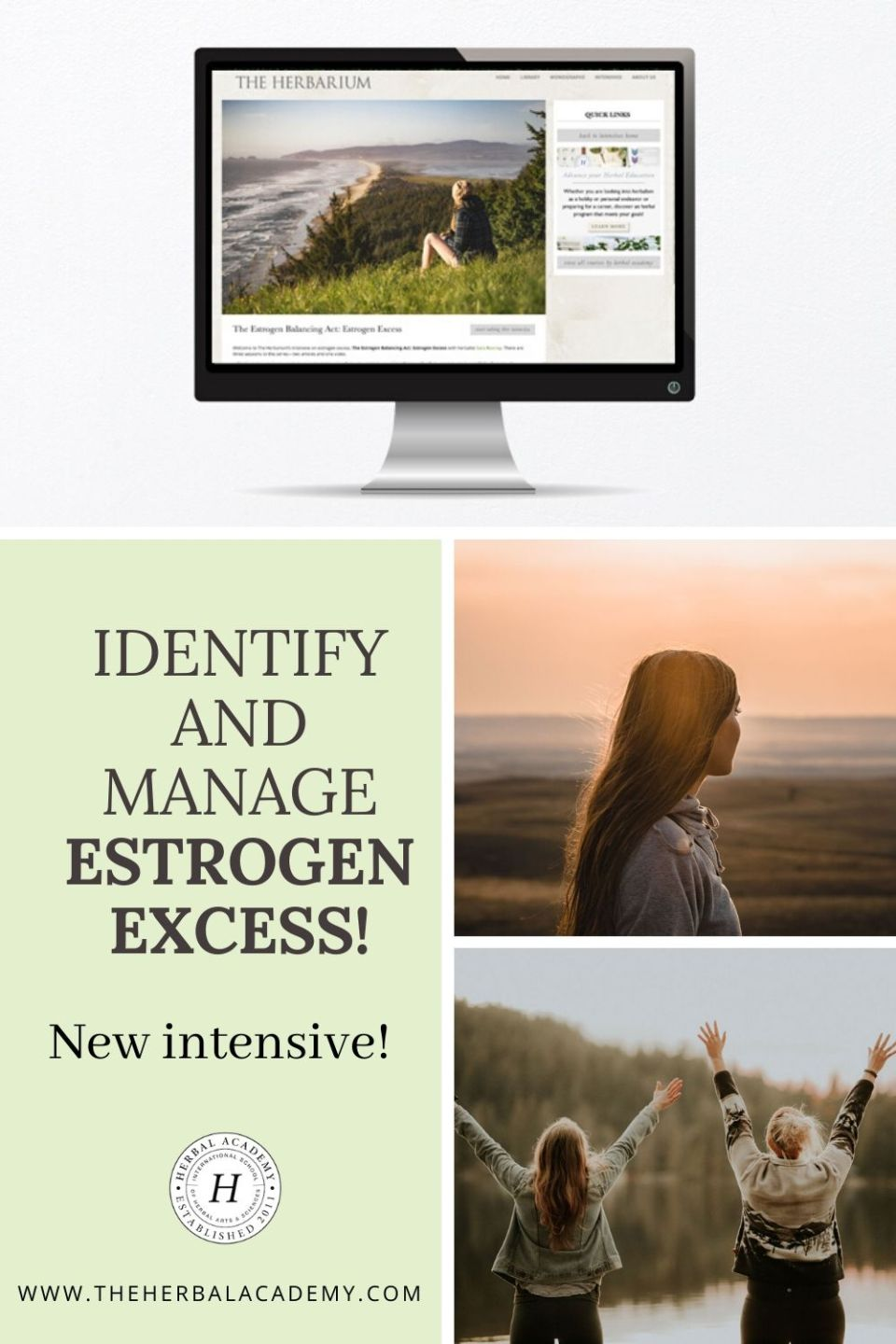 New Intensive! Identify and Manage Estrogen Excess  | Herbal Academy | We've partnered with Sara Rooney, a medical herbalist specializing in hormonal imbalance, to release our newest Herbarium intensive about estrogen excess.