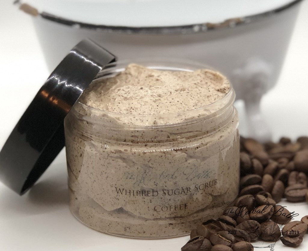 whipped coffee sugar scrub