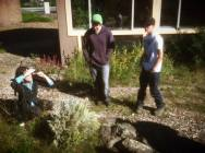 Riffing on the uses of yarrow in the teaching garden at Ponderosa High School in Flagstaff, AZ.