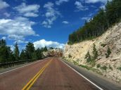 Headed into Bighorn National Forest near Medicine Wheel.