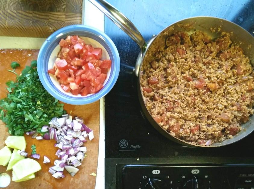 vegan taco tuesday recipes healthy plant based tacos with tvp taco night recipe hihg protein vegan tacos
