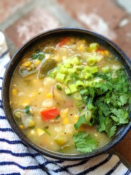 Healthy Vegan Paleo Whole30 Corn Chowder Soup