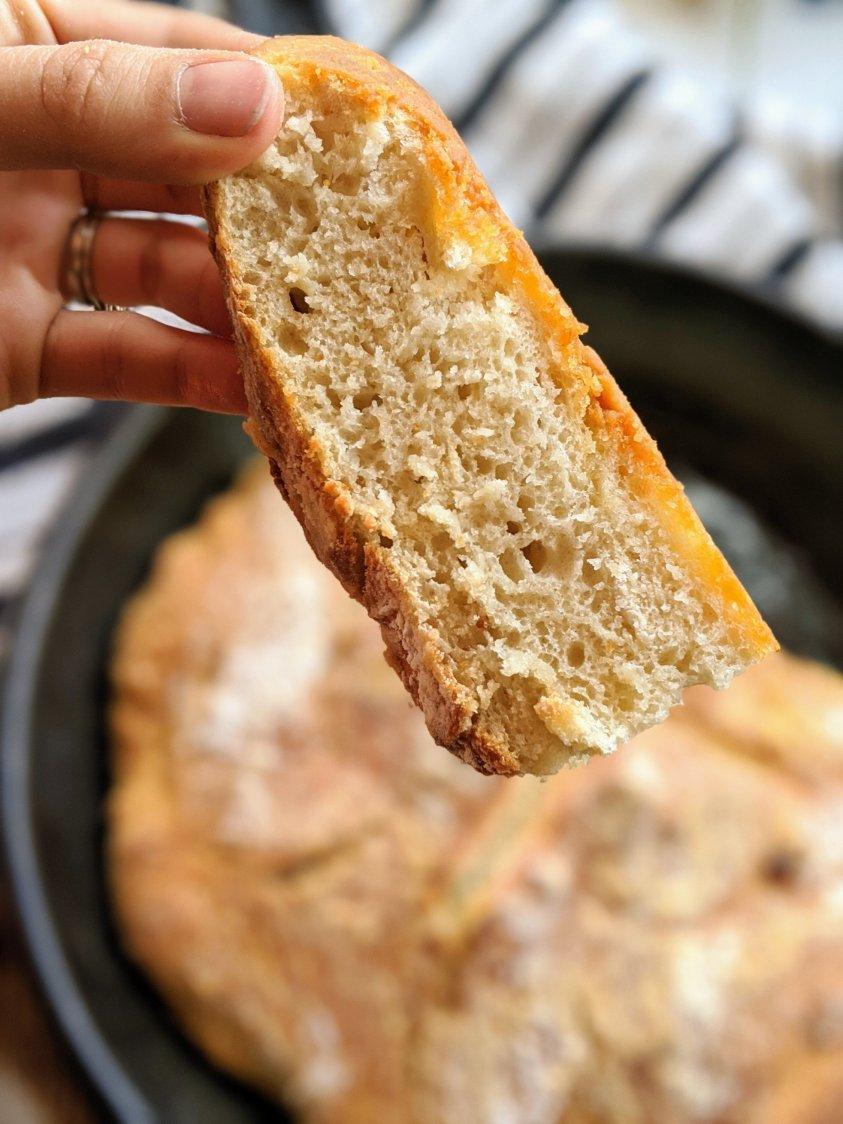 healthy 5 ingredient pantry bread no knead skillet bread make bread in cast iron pan bread recipe skillet bread no kneading required