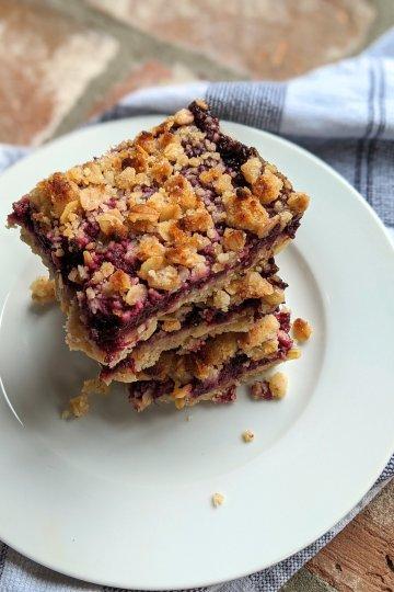 vegan gluten free blackberry oat bars
