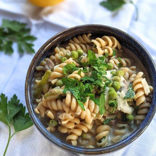 tahini alfredo pasta sauce recipe vegan gluten free nut free dairy free sesame paste pasta recipes healthy lemon tahini noodles vegetarian