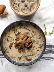 vegan cream of mushroom soup healthy easy gluten free