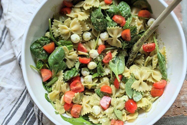 caprese vinaigrette pesto vegetarian salad pasta gf vegan option