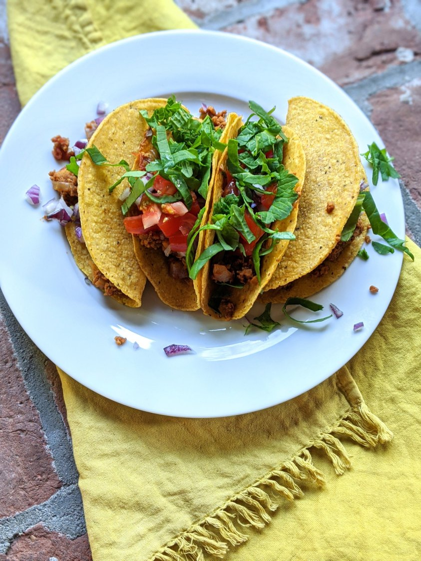 vegan gluten free tacos recipe plant based taco filling vegetarian tacos with tvp what do i eat with tvp