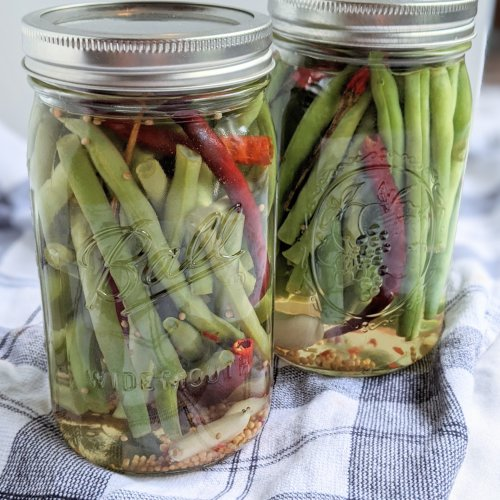 spicy pickled green beans canning beans homemade garden green beans how to