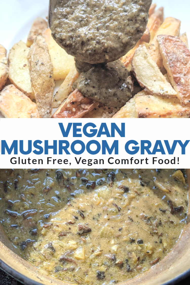 vegan mushroom gravy recipe vegetarian oil free gluten free spices healthy mushrooms nutritional yeast health fat free no oil