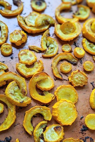 roast crookneck squash recipe healthy vegan gluten free roasted vegetable side dish recipes