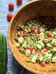 no cook summer salad recipes with beans vegan vegetarian gluten free plant based healthy potluck recipes everyone will love with summer produce salad seasonal eats