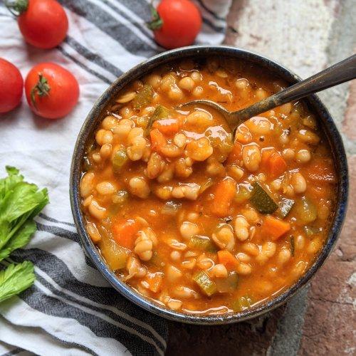 fasolatha soup recipe green white bean soup vegan gluten free